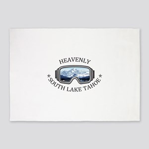 Heavenly Ski Resort - South Lake 5'x7'Area Rug
