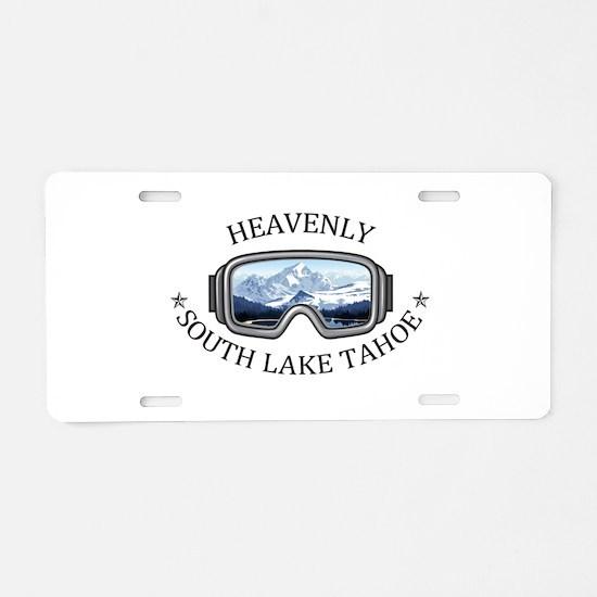 Heavenly Ski Resort - Sou Aluminum License Plate