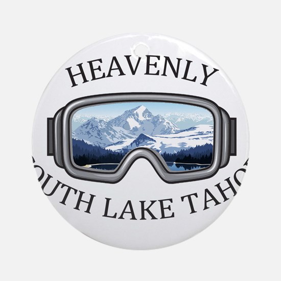 Heavenly Ski Resort - South Lake Round Ornament