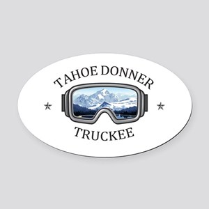 Tahoe Donner - Truckee - Califor Oval Car Magnet