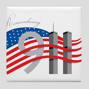 Remembering 911 Tile Coaster