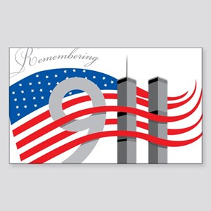Remembering 911 Sticker (Rectangle)