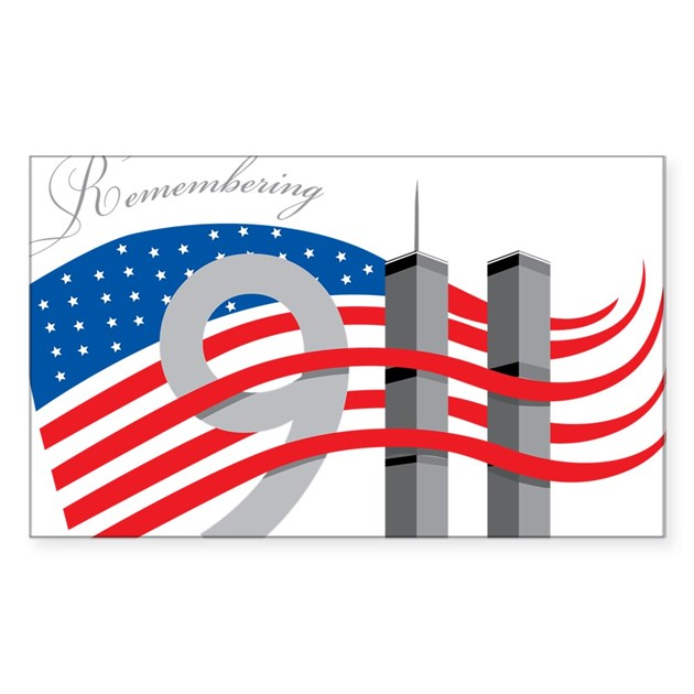 Remembering 911 sticker rectangle by mantradesigns for Design 911 discount code