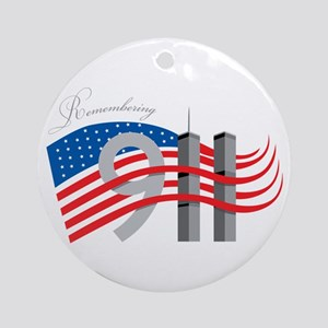 Remembering 911 Ornament (Round)