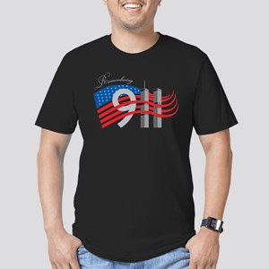 Remembering 911 Men's Fitted T-Shirt (dark)