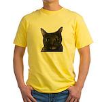 CAT FACE Yellow T-Shirt