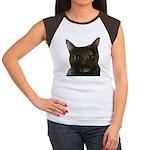 CAT FACE Women's Cap Sleeve T-Shirt