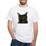 CAT FACE White T-Shirt