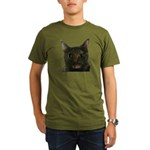 CAT FACE Organic Men's T-Shirt (dark)