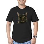 CAT FACE Men's Fitted T-Shirt (dark)