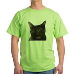 CAT FACE Green T-Shirt