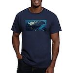 Night Men's Fitted T-Shirt (dark)