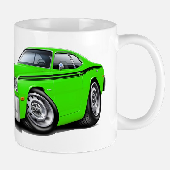 Duster Lime-Black Car Mug