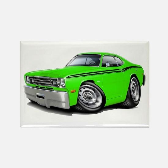 Duster Lime-Black Car Rectangle Magnet