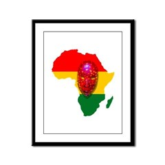 Africa with Mask Framed Panel Print