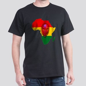 Africa with Mask Dark T-Shirt