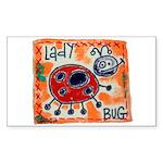 ladybug Sticker (Rectangle 50 pk)