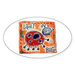ladybug Sticker (Oval 50 pk)