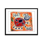 ladybug Framed Panel Print