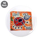 "ladybug 3.5"" Button (10 pack)"