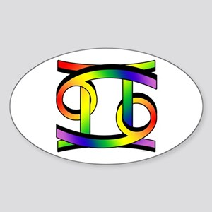 GLBT Cancer & Gemini Oval Sticker