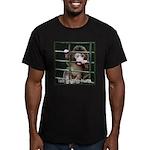 Lab Testing Hurts Men's Fitted T-Shirt (dark)