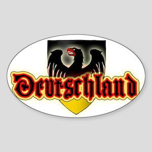 Deutschland Sticker (Oval)