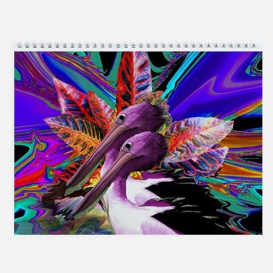 Purple Pelican Wall Calendar