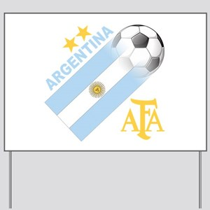Argentina world cup soccer Yard Sign