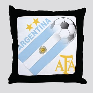 Argentina world cup soccer Throw Pillow