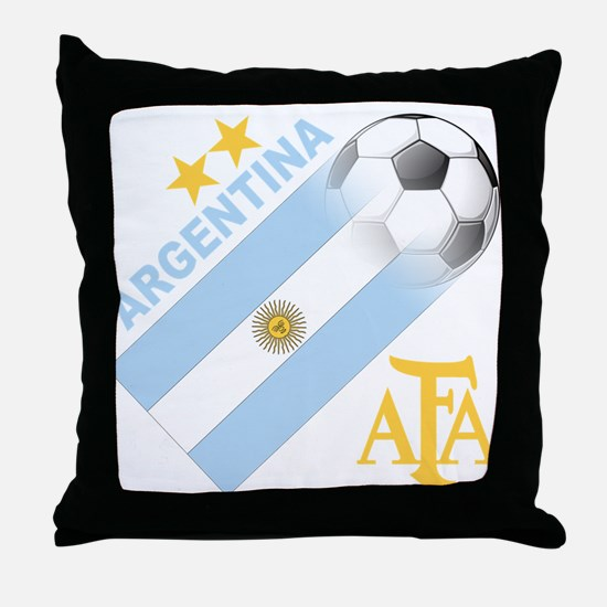 Argentina world cup soccer Throw Pillow