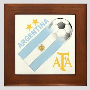 Argentina world cup soccer Framed Tile