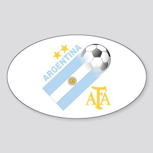 Argentina world cup soccer Oval Sticker