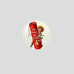 4th of July Firecracker Mini Button