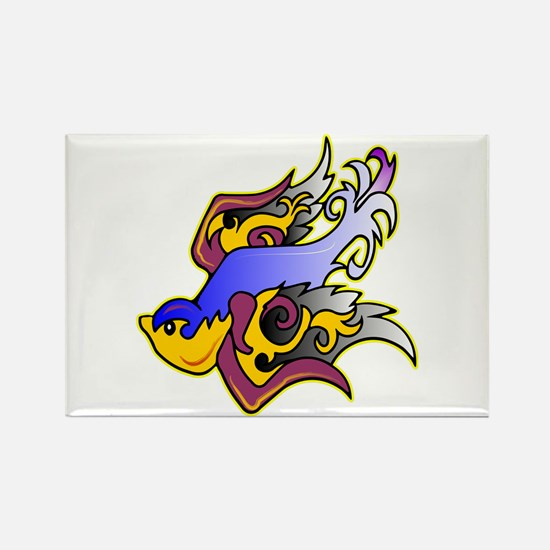 Swallow Old Skool Tattoo Rectangle Magnet