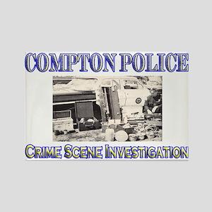 Compton Police CSI Rectangle Magnet