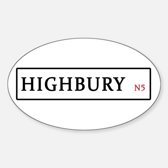 Highbury Sticker (Oval)