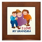 I Love my Grandma Framed Tile