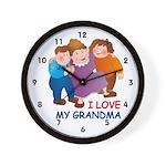 I Love my Grandma Wall Clock