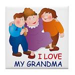 I Love my Grandma Tile Coaster