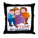I Love my Grandma Throw Pillow