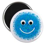 """Aqua Fuzzy"" 2.25"" Magnet (10 pack)"