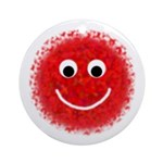 """""""Red Fuzzy"""" Ornament (Round)"""