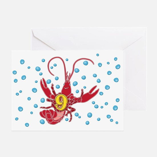 Crawfish Nine Greeting Card