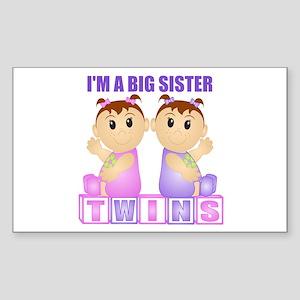 I'm A Big Sister (PGG:blk) Rectangle Sticker