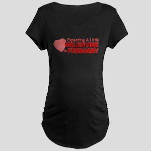 Little Valentine February Maternity Dark T-Shirt