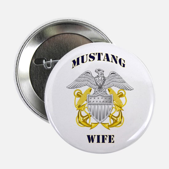 "Blue Mustang Wife 2.25"" Button"
