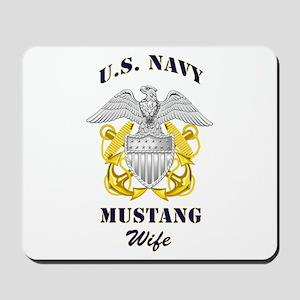 Navy Mustang Wife Mousepad