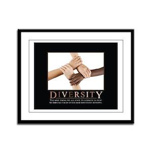 Diversity Framed Panel Print