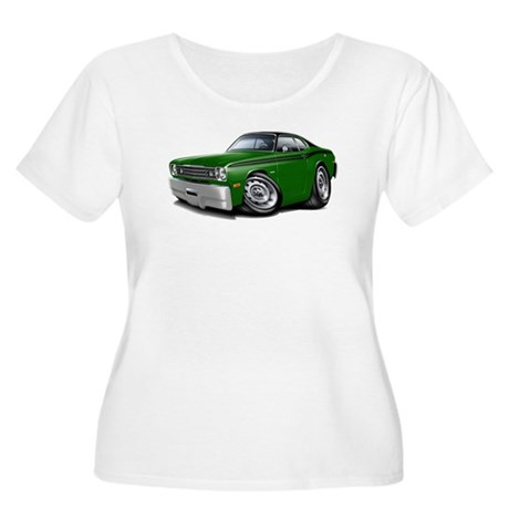 Duster Green-Black Top Car Women's Plus Size Scoop